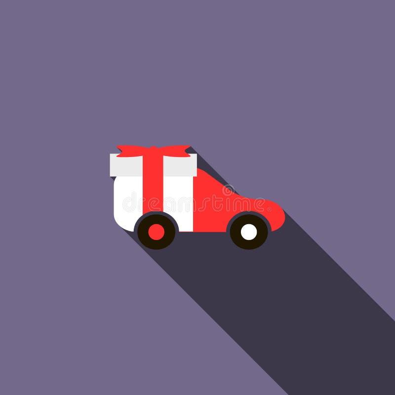 Stuk speelgoed autopictogram, vlakke stijl vector illustratie
