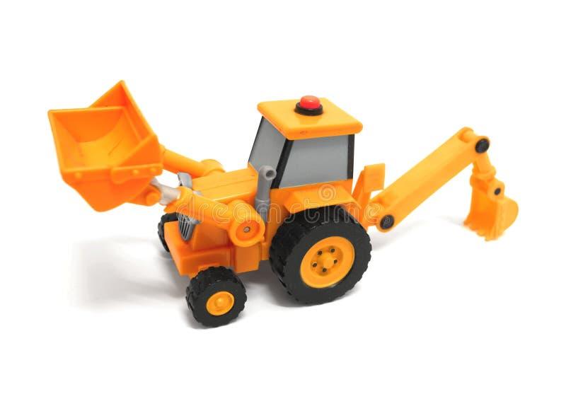 Stuk speelgoed backhoe royalty-vrije stock afbeelding