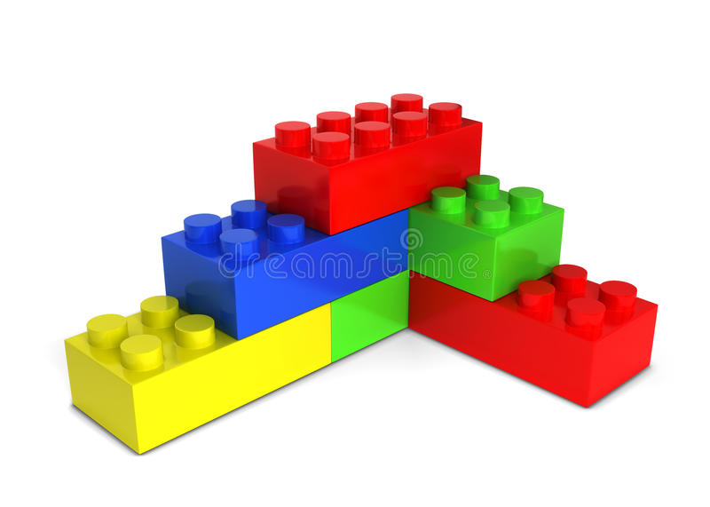 Stuk speelgoed bakstenen vector illustratie