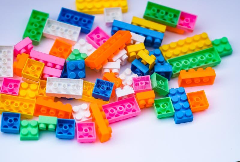Stuk speelgoed bakstenen of blokken royalty-vrije stock foto's