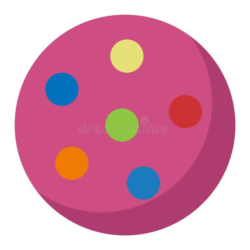 Stuk speelgoed bal vectorillustratie vector illustratie