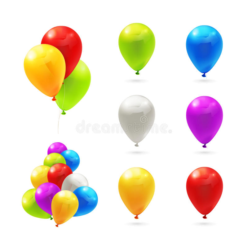 Stuk speelgoed ballons, reeks stock illustratie