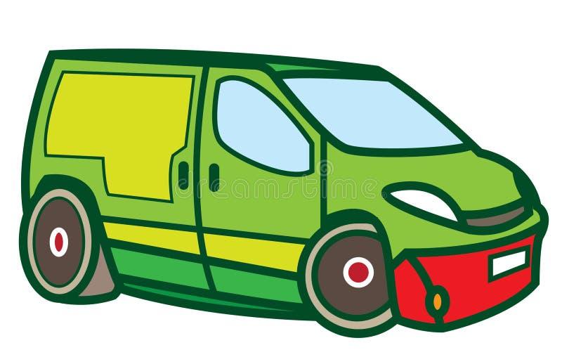 Stuk speelgoed bestelwagen vector illustratie