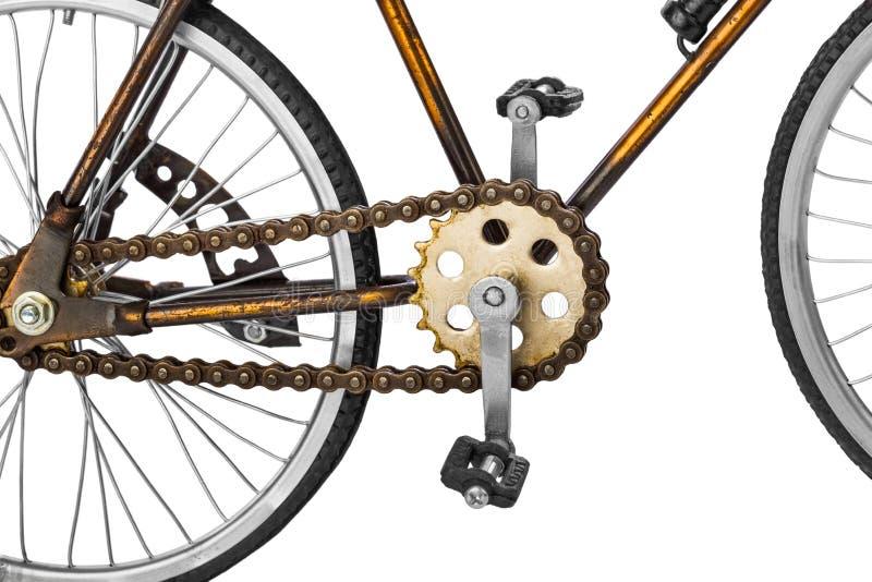 Stuk speelgoed fiets royalty-vrije stock fotografie