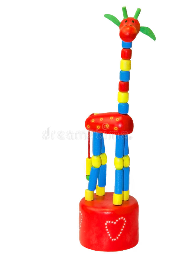 Stuk speelgoed giraf  stock afbeelding