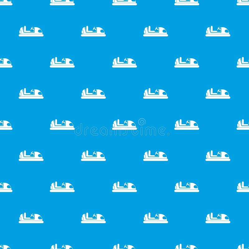 Stuk speelgoed het naadloze blauw van het autopatroon royalty-vrije illustratie