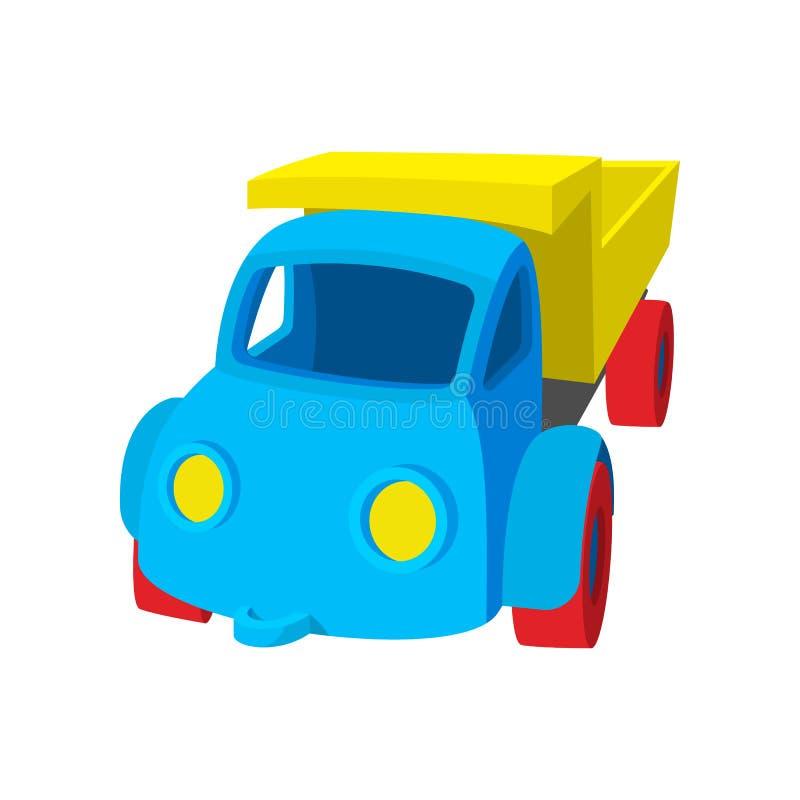 Stuk speelgoed het pictogram van het vrachtwagenbeeldverhaal royalty-vrije illustratie