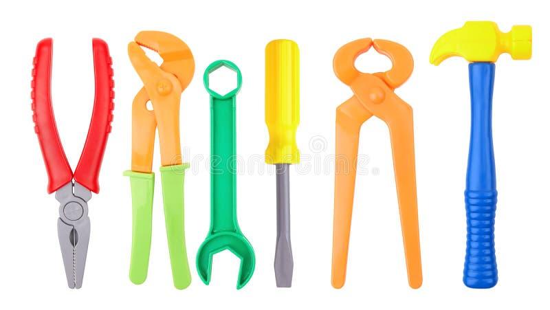 Stuk speelgoed hulpmiddelen stock foto's