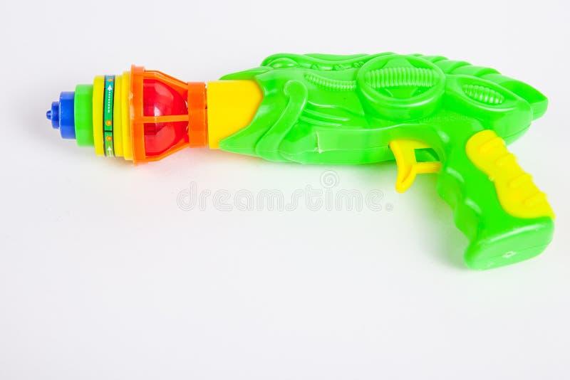 Stuk speelgoed kanon met tol royalty-vrije stock fotografie
