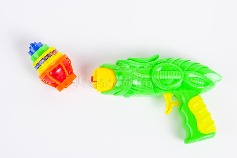 Stuk speelgoed kanon met tol stock foto's