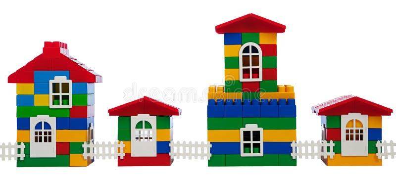 Stuk speelgoed kleurrijke huizen royalty-vrije stock fotografie