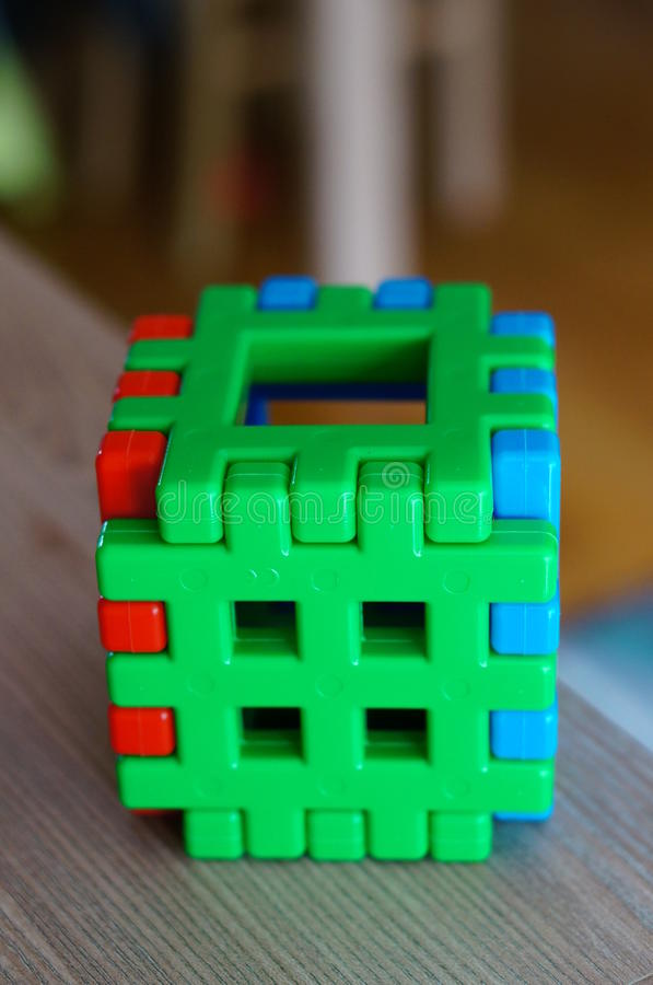 Stuk speelgoed kubus royalty-vrije stock foto