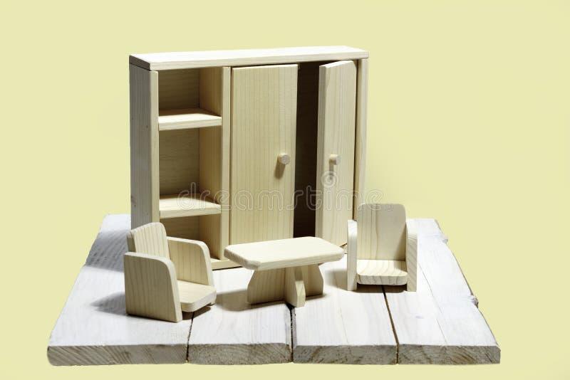 Stuk speelgoed meubilair stock fotografie