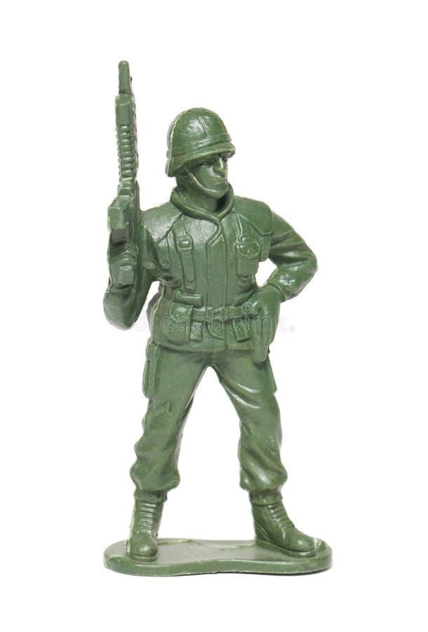 Stuk speelgoed militair royalty-vrije stock afbeelding