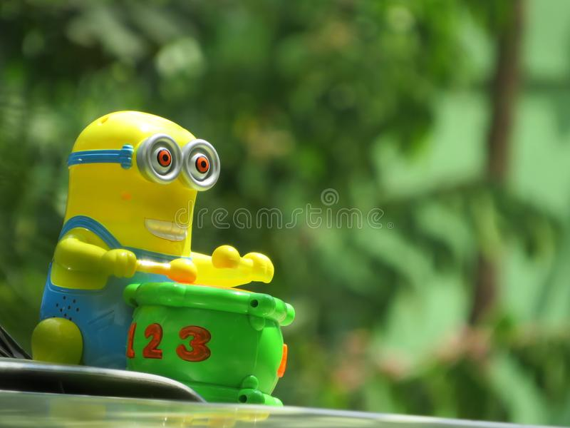 Stuk speelgoed minion royalty-vrije stock foto's