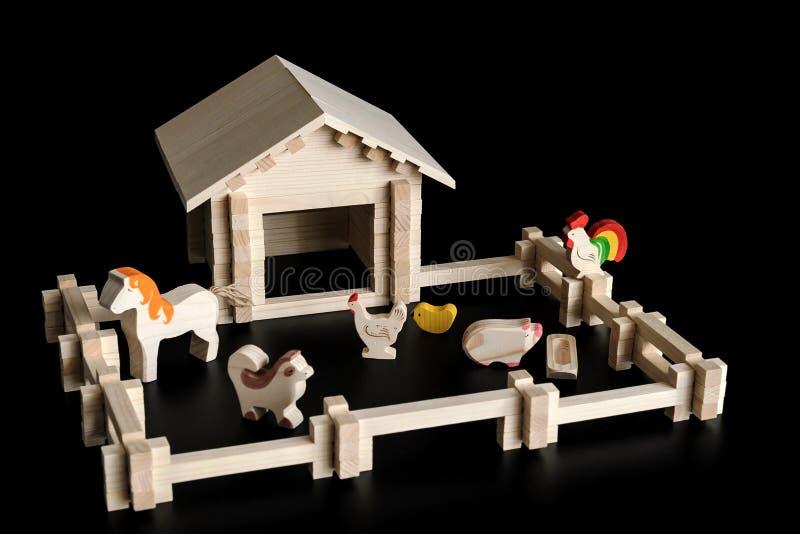 Stuk speelgoed model van een huis royalty-vrije stock afbeelding