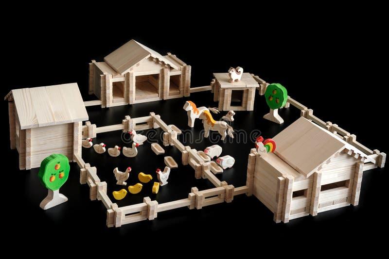 Stuk speelgoed model van een huis royalty-vrije stock foto's