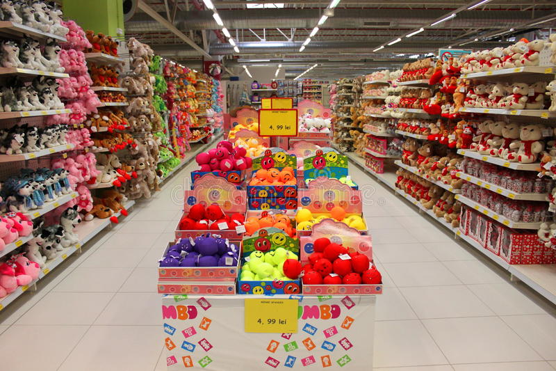 Stuk speelgoed opslagjumbo stock foto