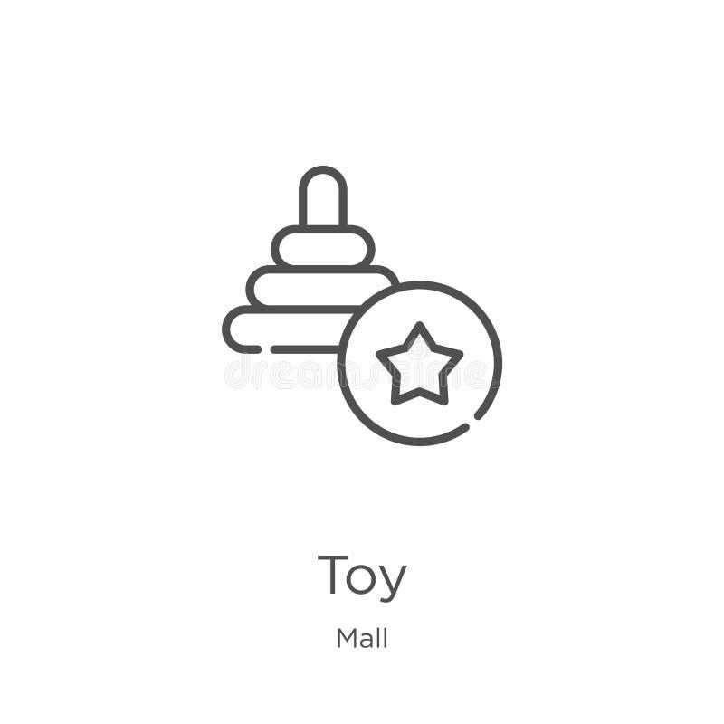 stuk speelgoed pictogramvector van wandelgalerijinzameling De dunne lijnstuk speelgoed vectorillustratie van het overzichtspictog vector illustratie