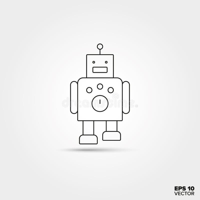 stuk speelgoed robotpictogram vector illustratie