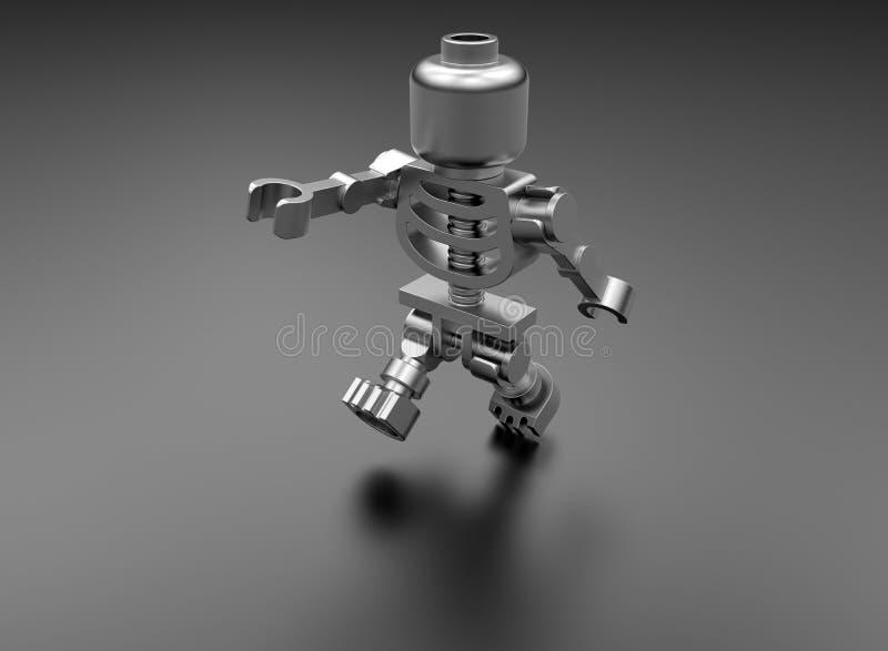 Stuk speelgoed skelet vector illustratie