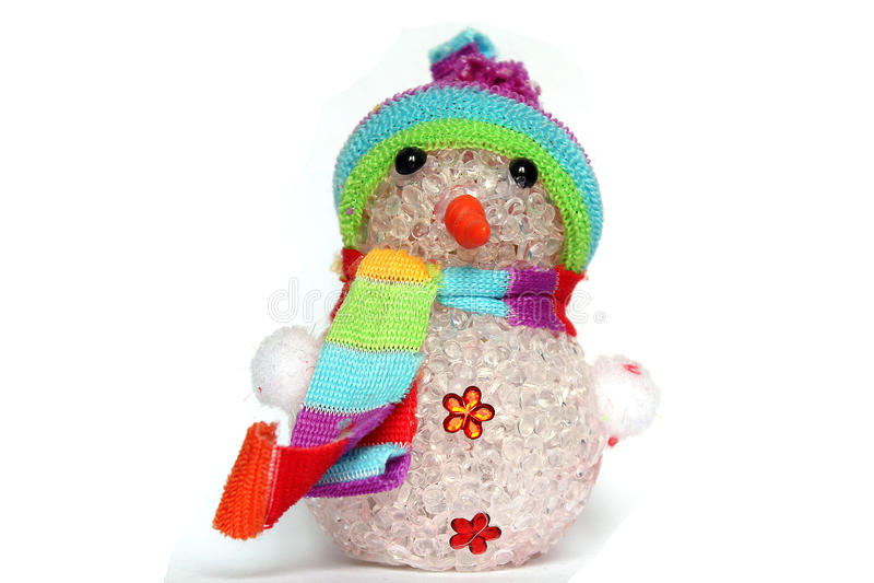 Stuk speelgoed sneeuwman royalty-vrije stock foto's