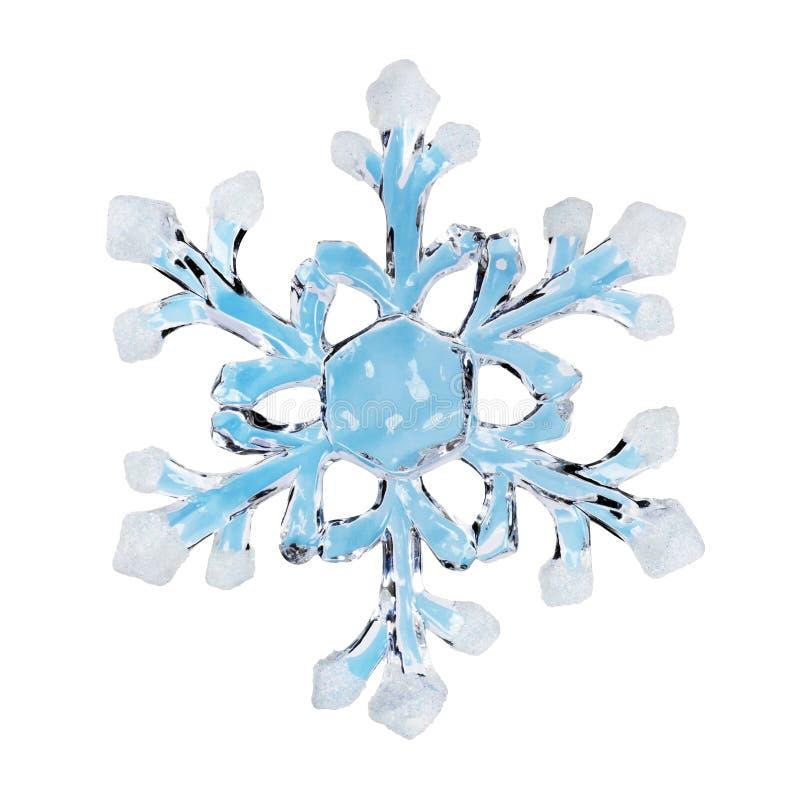Stuk speelgoed sneeuwvlok royalty-vrije stock afbeelding