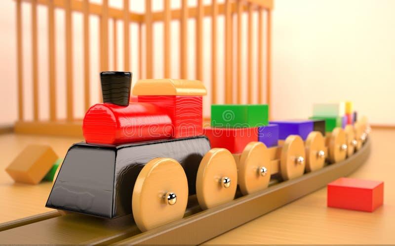 Stuk speelgoed trein vector illustratie