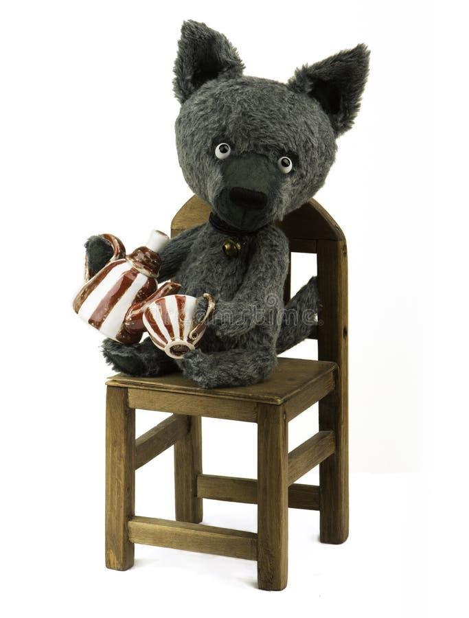 Download Stuk speelgoed wolf stock afbeelding. Afbeelding bestaande uit dieren - 54080863