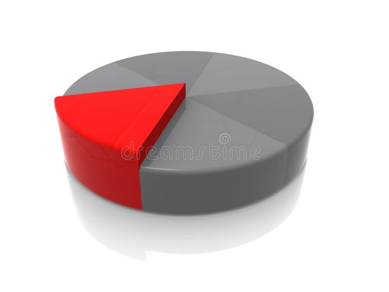 Stuk van de Pastei vector illustratie