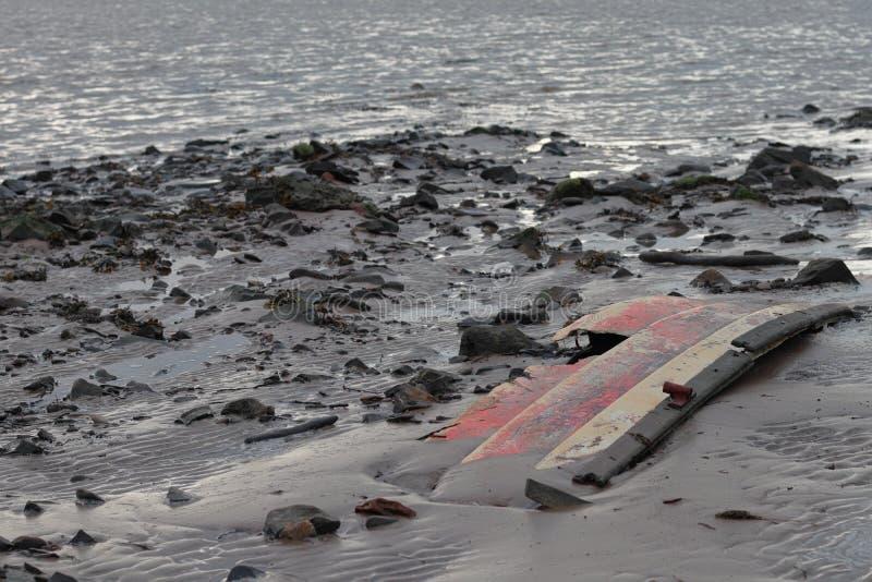 Stuk van gebroken boot stock fotografie