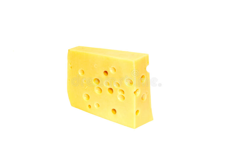 Stuk van gele kaas stock fotografie