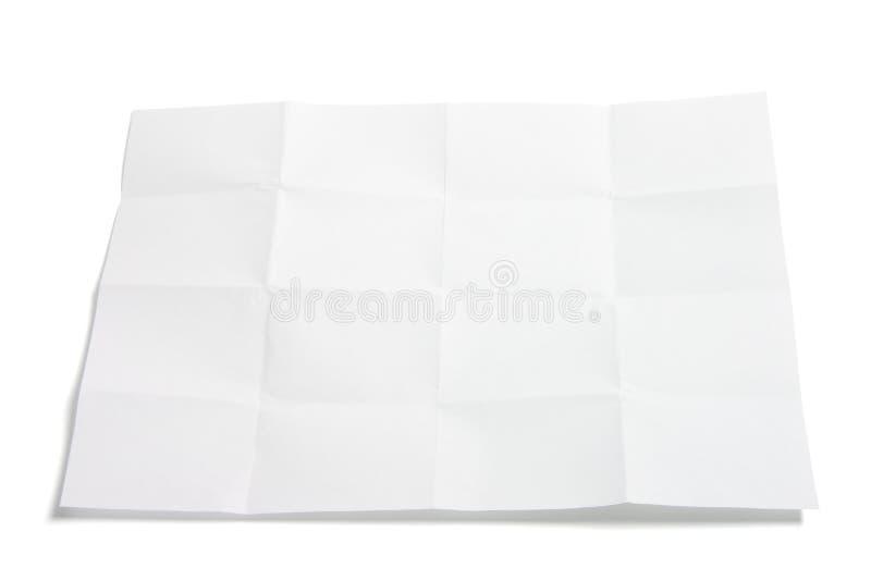 Stuk van Gevouwen Document stock afbeeldingen