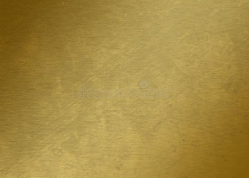 Stuk van goud - Gouden textuur - Gouden Metaaltextuur - royalty-vrije stock afbeelding