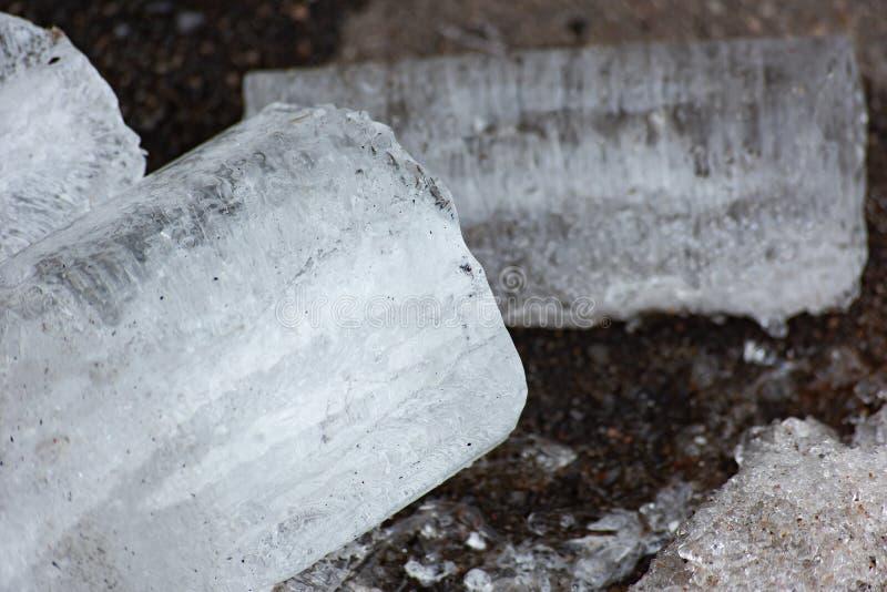 Stuk van ijs stock afbeeldingen