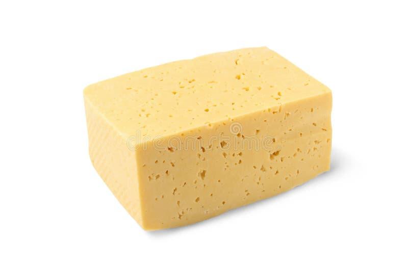 Stuk van kaas stock foto's
