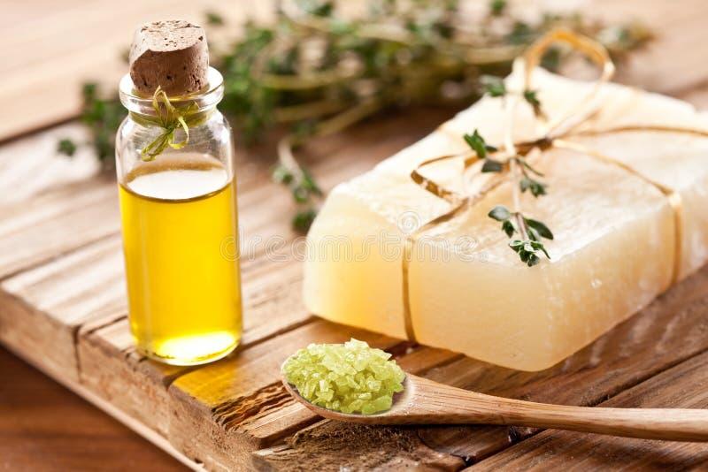 Stuk van natuurlijke zeep. royalty-vrije stock afbeelding