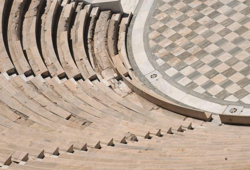 Stuk van Odeon in Athene royalty-vrije stock fotografie
