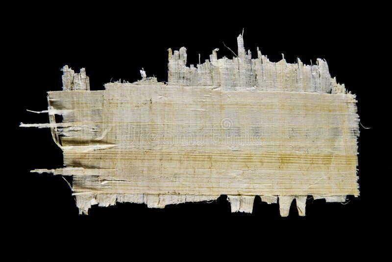 Stuk van papyrusdocument stock foto