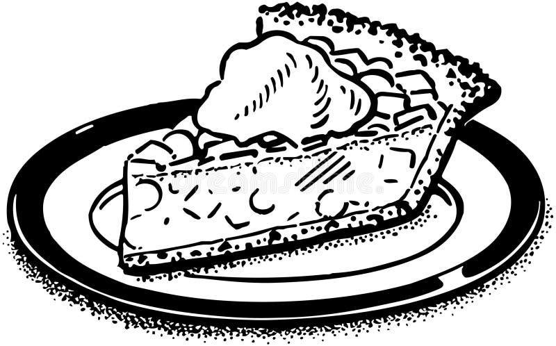 Stuk van pastei stock illustratie