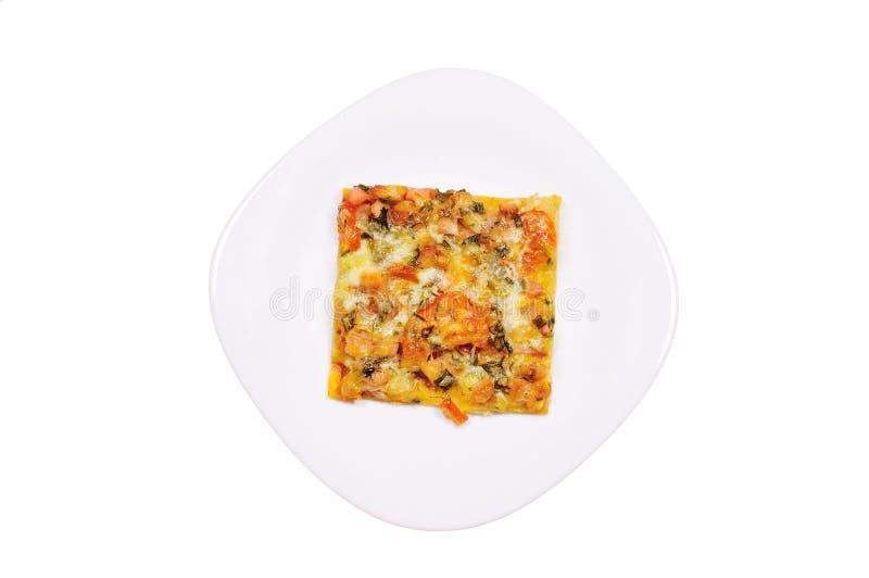 Stuk van pizza stock afbeeldingen