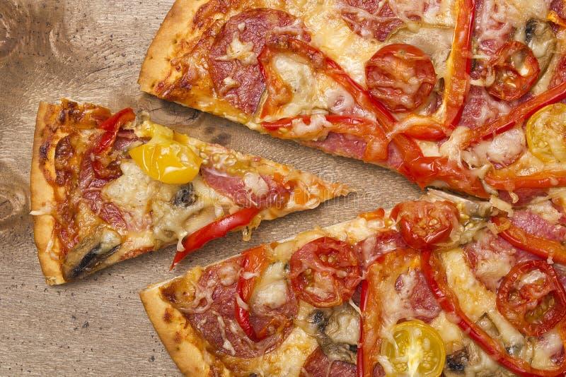 Stuk van Pizza stock foto