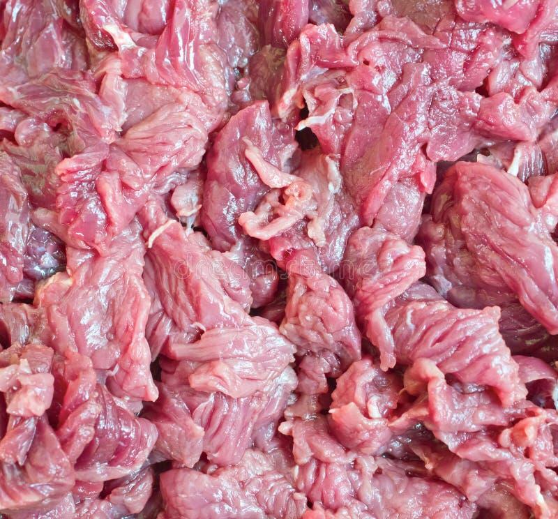 Stuk van verse ruwe vleesachtergrond stock afbeeldingen
