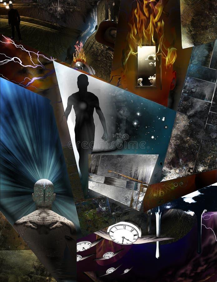 Stukken van bewustzijn stock illustratie