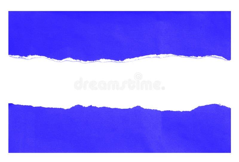 Stukken van gescheurd document stock fotografie
