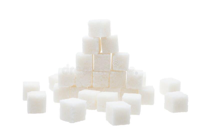 Stukken van witte suiker stock fotografie