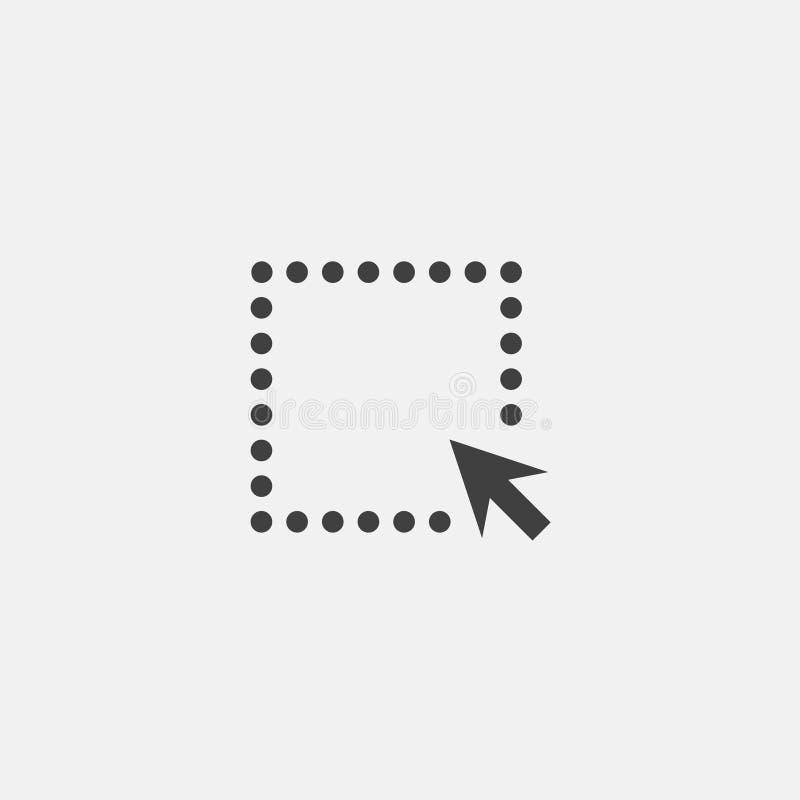 Stuknięcie ikony wektor royalty ilustracja