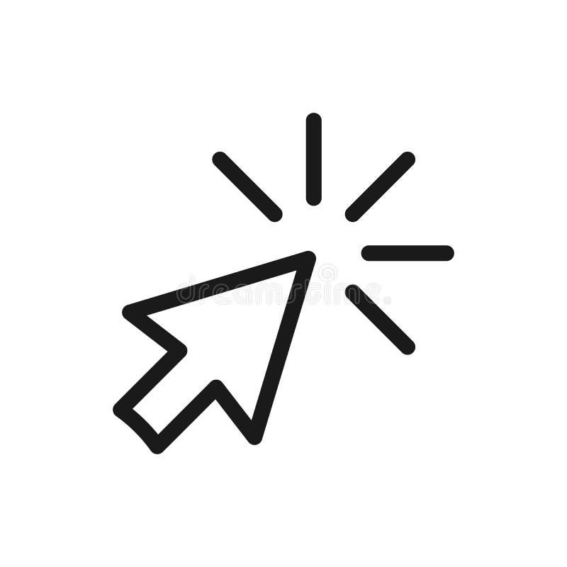Stuknięcie wektorowa ikona, kursoru symbol Nowożytny, prosty płaski wektor, ilustracja wektor
