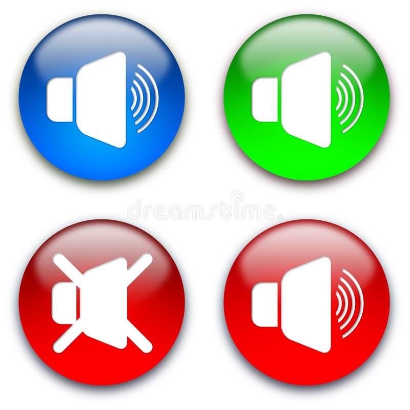 Stummtasten des lauten Lautsprechers vektor abbildung