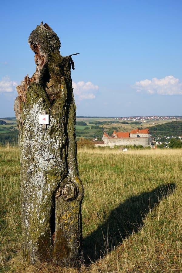Stump och slott fotografering för bildbyråer